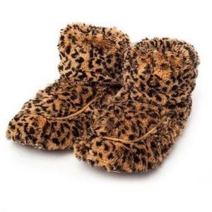 Leopard Microwavable Warmie Boots/Slippers